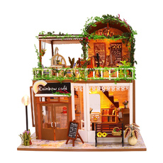 3D Интерьерный конструктор Midesize DIY Doll House MASSLINNA Rainbow café